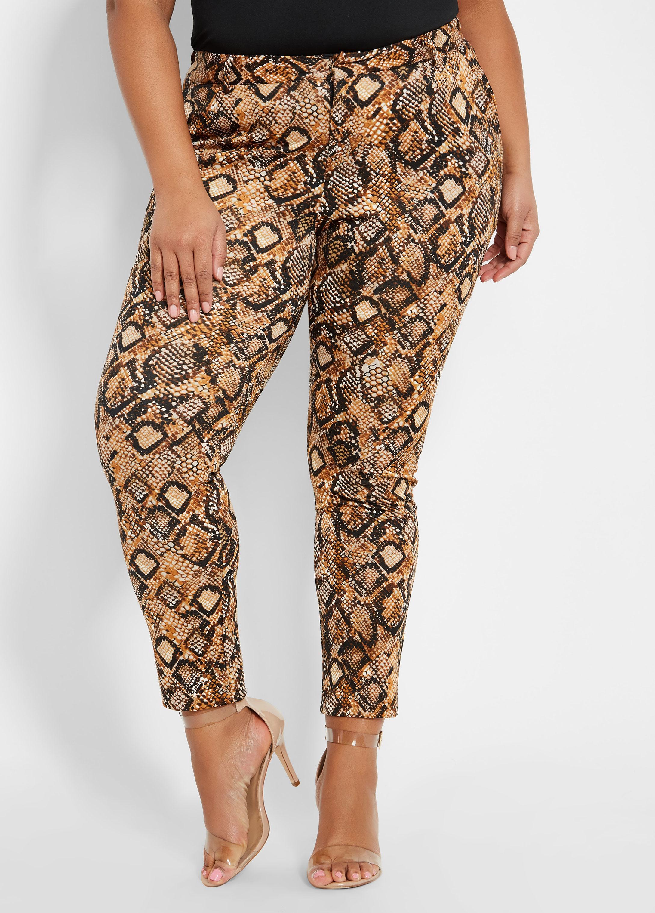 df1ce371e62bf Lyst - Ashley Stewart Plus Size Snake Print Skinny Pant