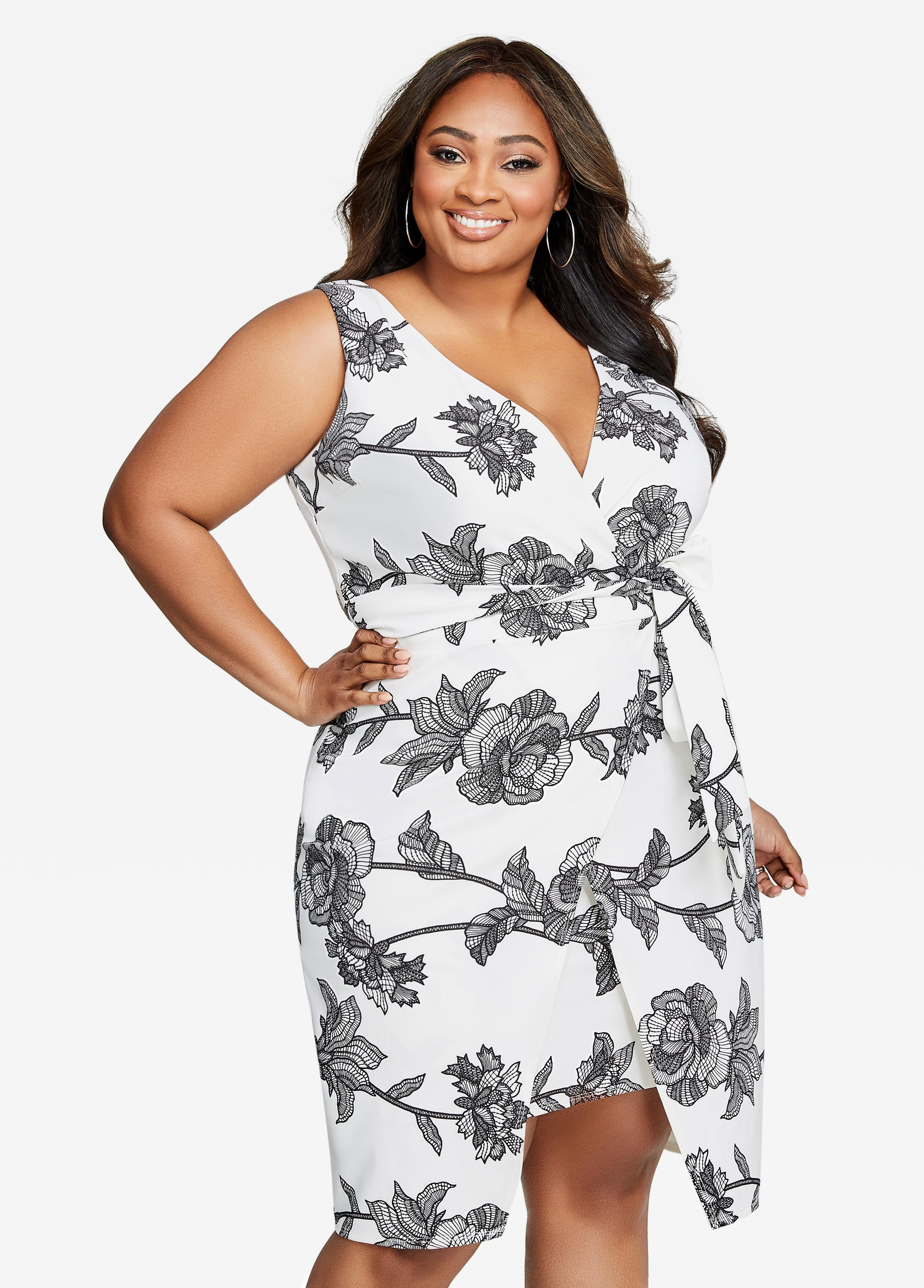 b6fae01d9fb Gallery. Previously sold at  Ashley Stewart · Women s Floral Dresses  Women s Tulip ...