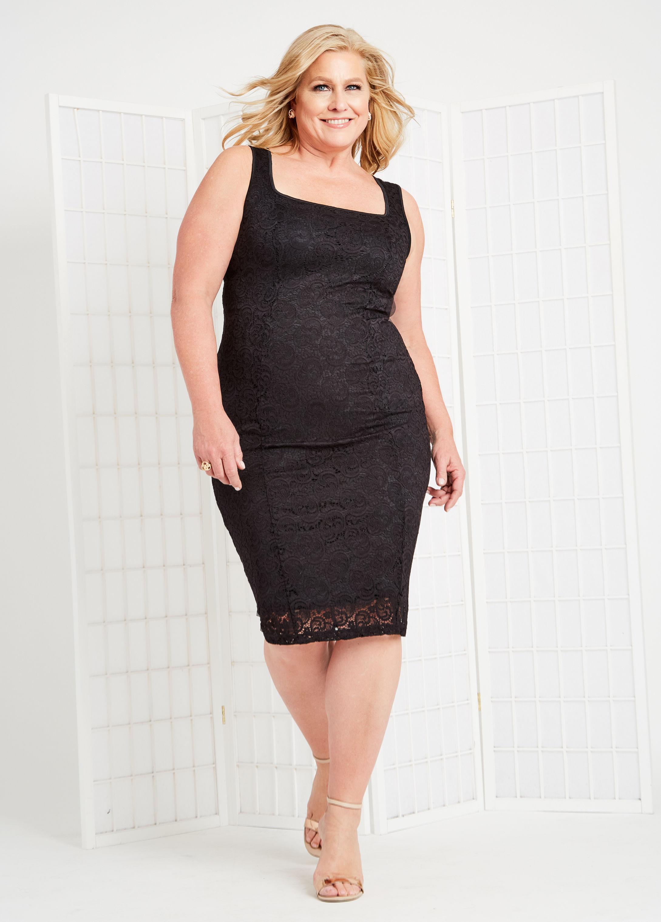 113887c027cc8 Lyst - Ashley Stewart Plus Size Me By Emme® Lace Sheath Dress in Black