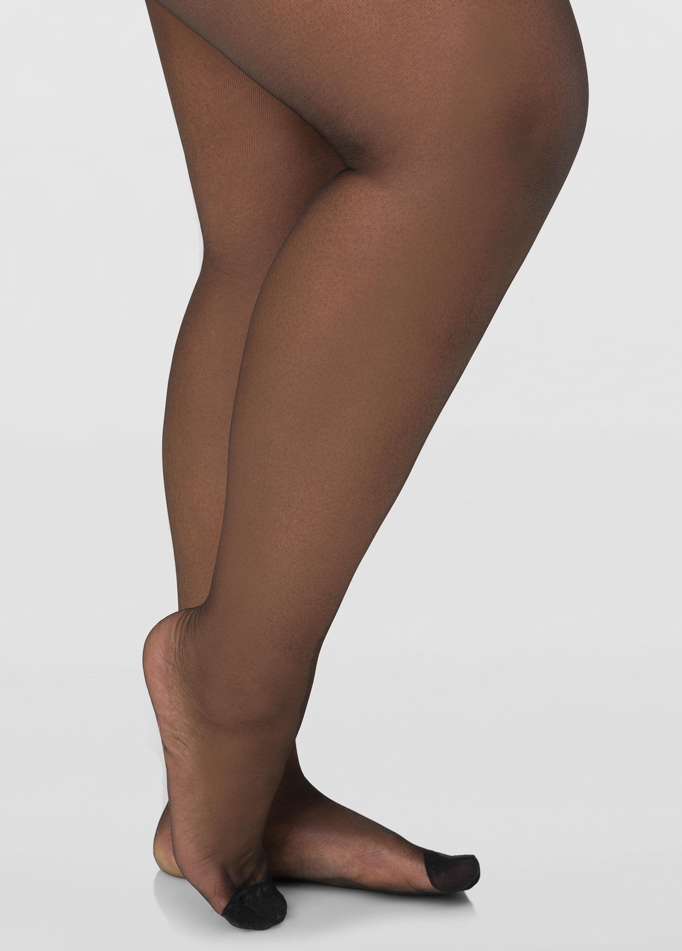 fde976a38 Ashley Stewart. Women s Plus Size Berkshire Reinforced Toe Control Top  Ultra Sheer Pantyhose