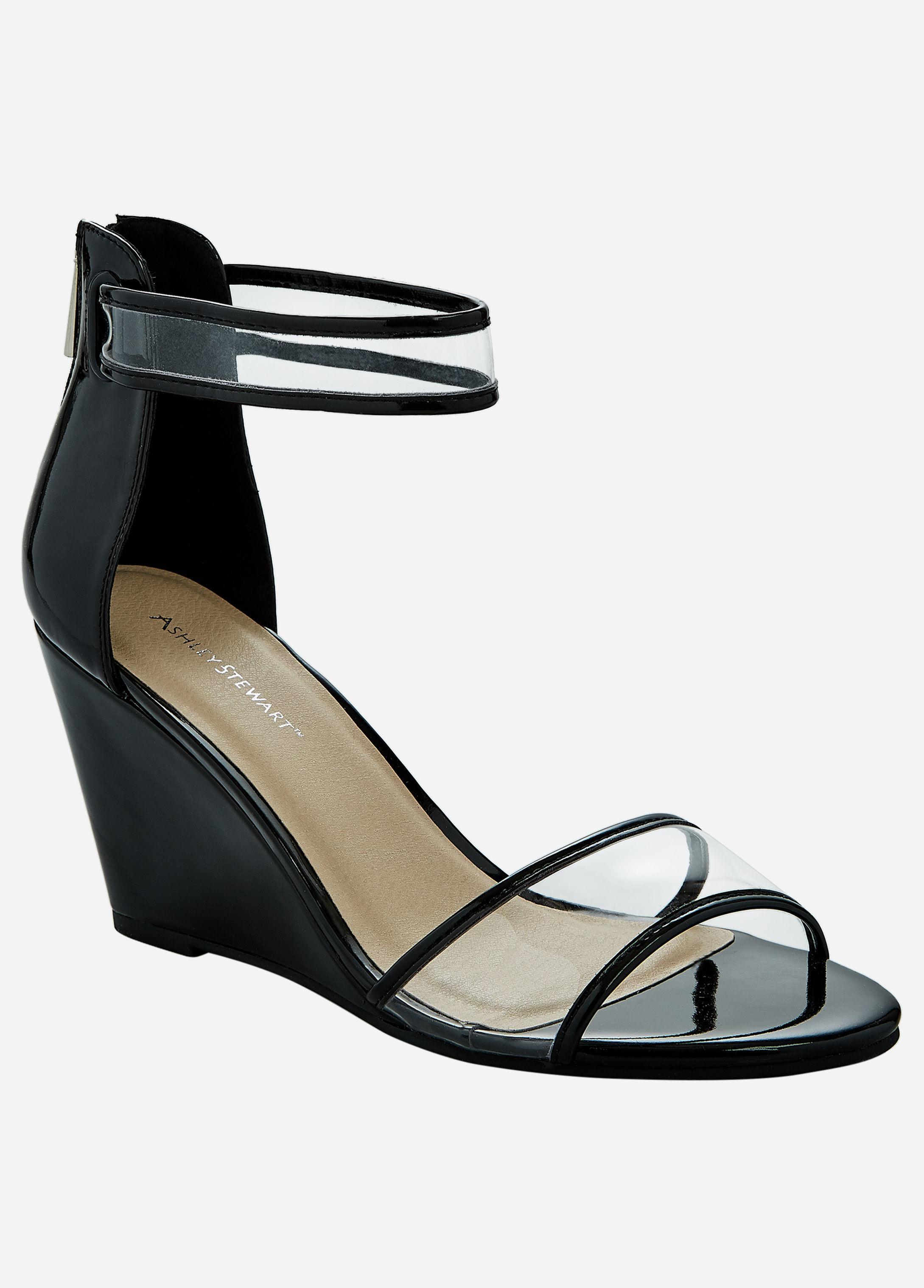 14d149c3b18 Lyst - Ashley Stewart Skinny Wedge Wide Width Heel in Black