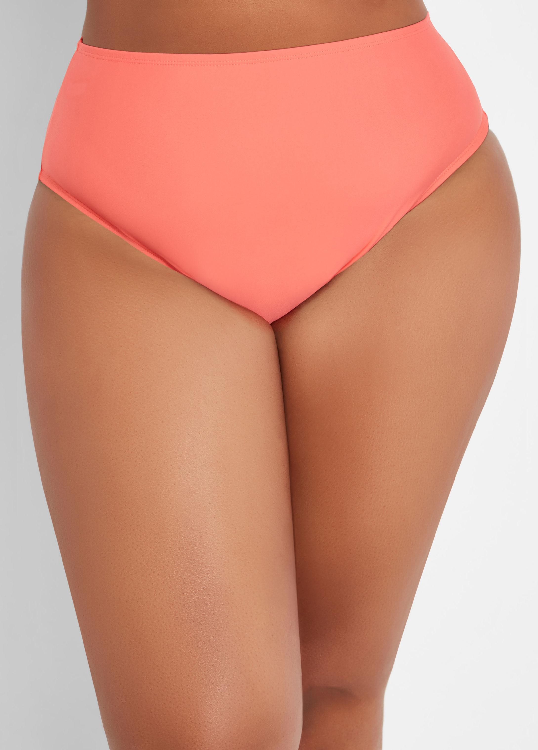 ff826603e2 Lyst - Ashley Stewart Plus Size Ruffle Front Swim Brief Bottom in Pink