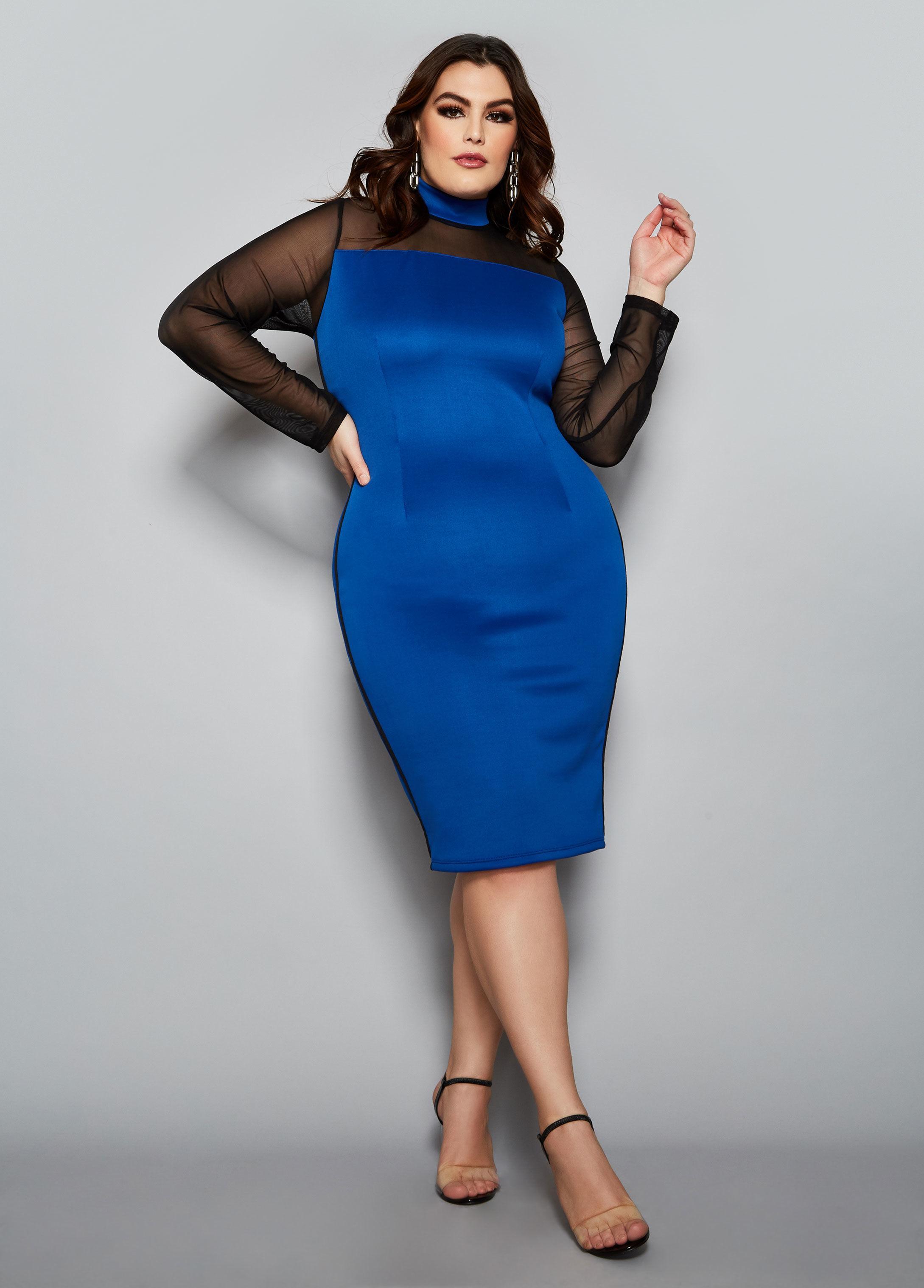 f488dfd17e Lyst - Ashley Stewart Plus Size The Eve Dress in Blue