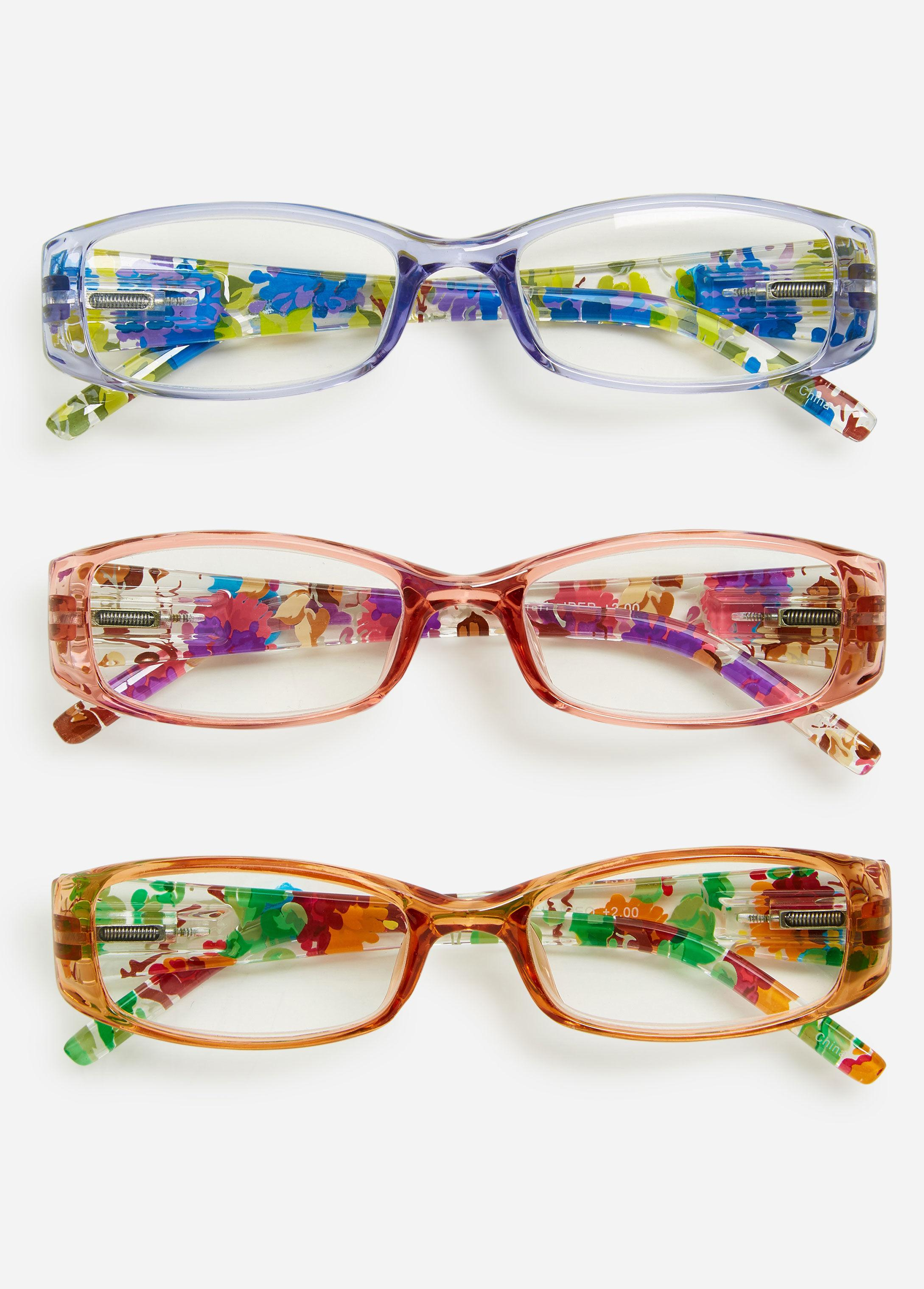 8a69d2c97b0 Lyst - Ashley Stewart Plus Size Square Multi Print Reading Glasses Set