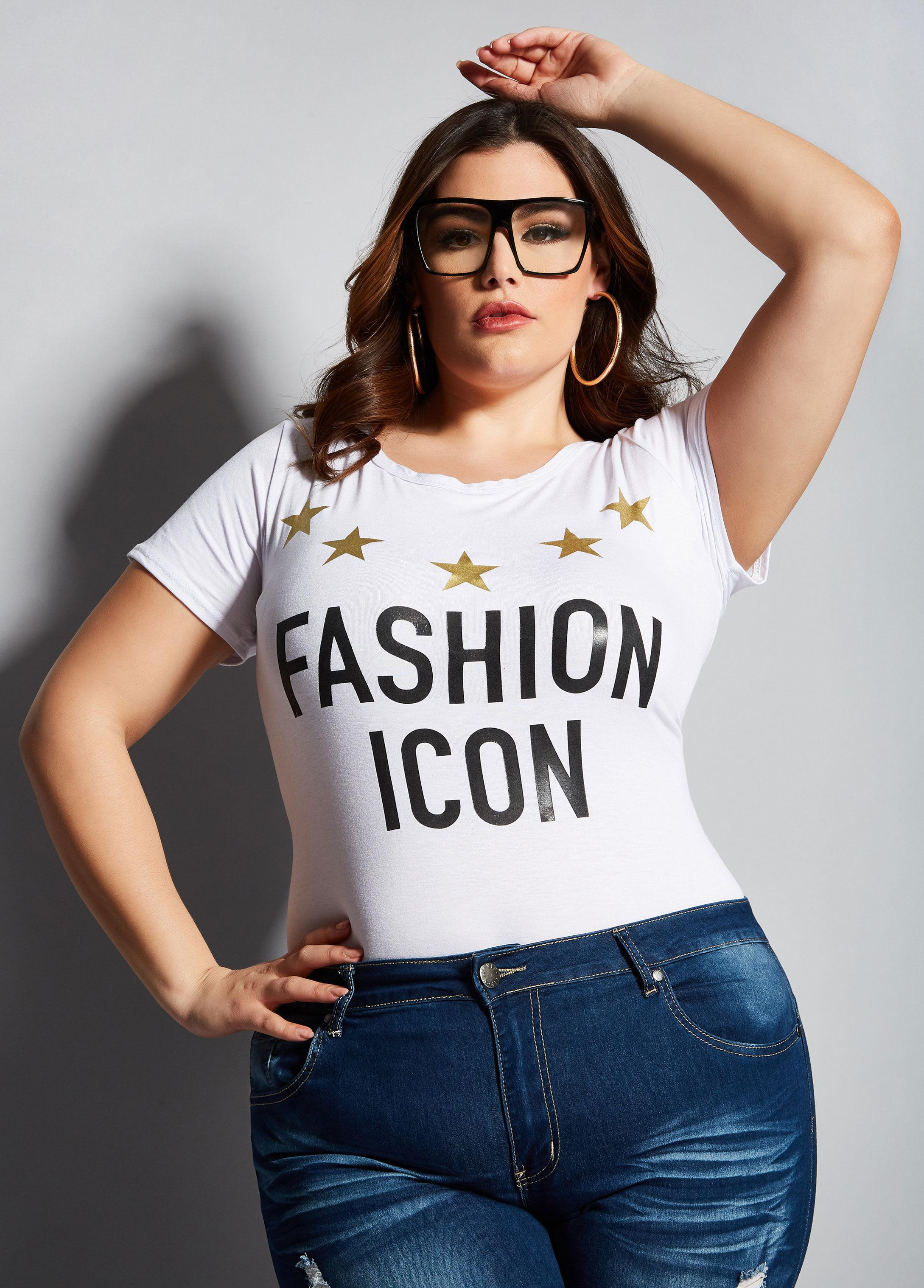 f871604a174 Lyst - Ashley Stewart Plus Size The Icon Graphic Tee in White