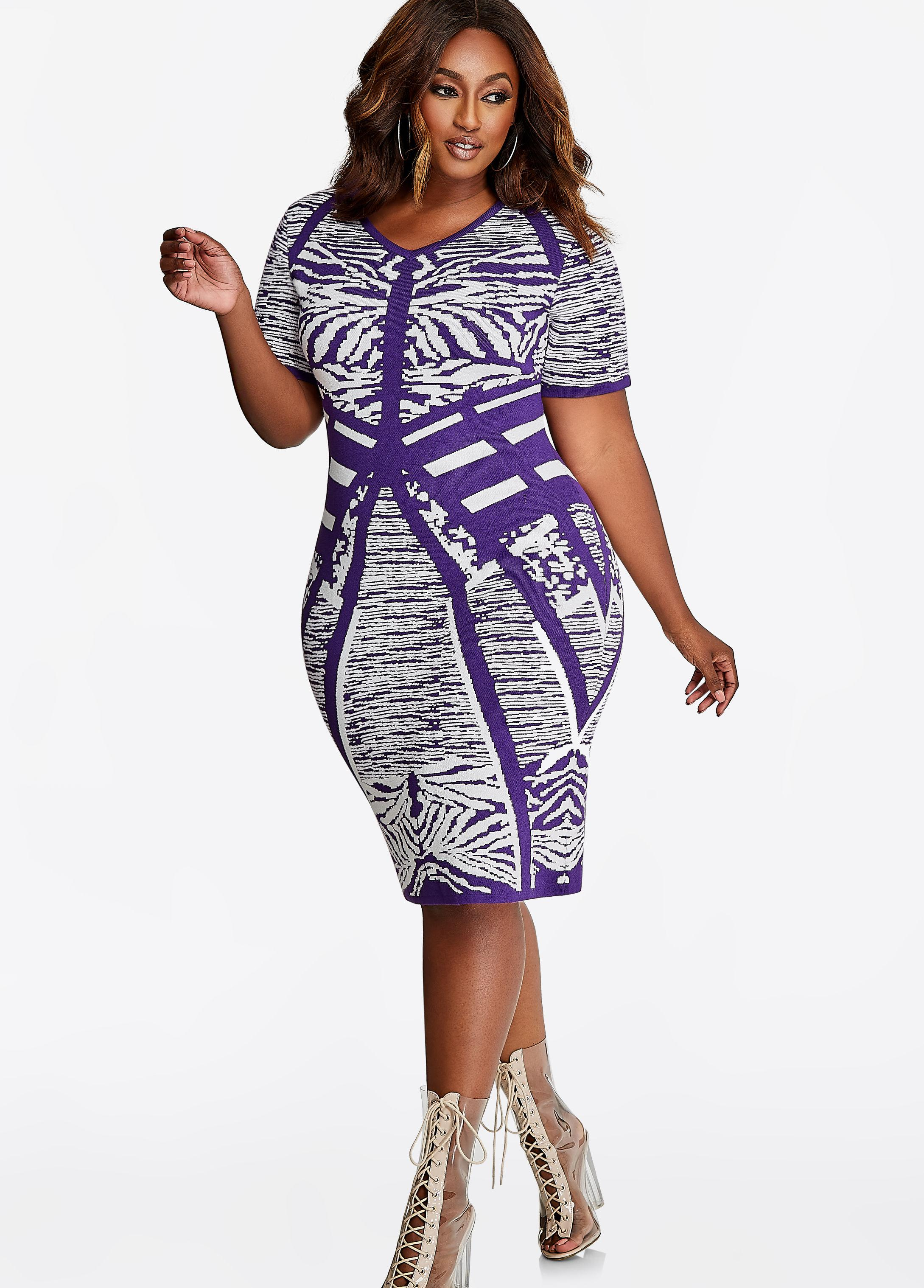 1e52940c15 Gallery. Previously sold at  Ashley Stewart · Women s Bodycon Dresses ...