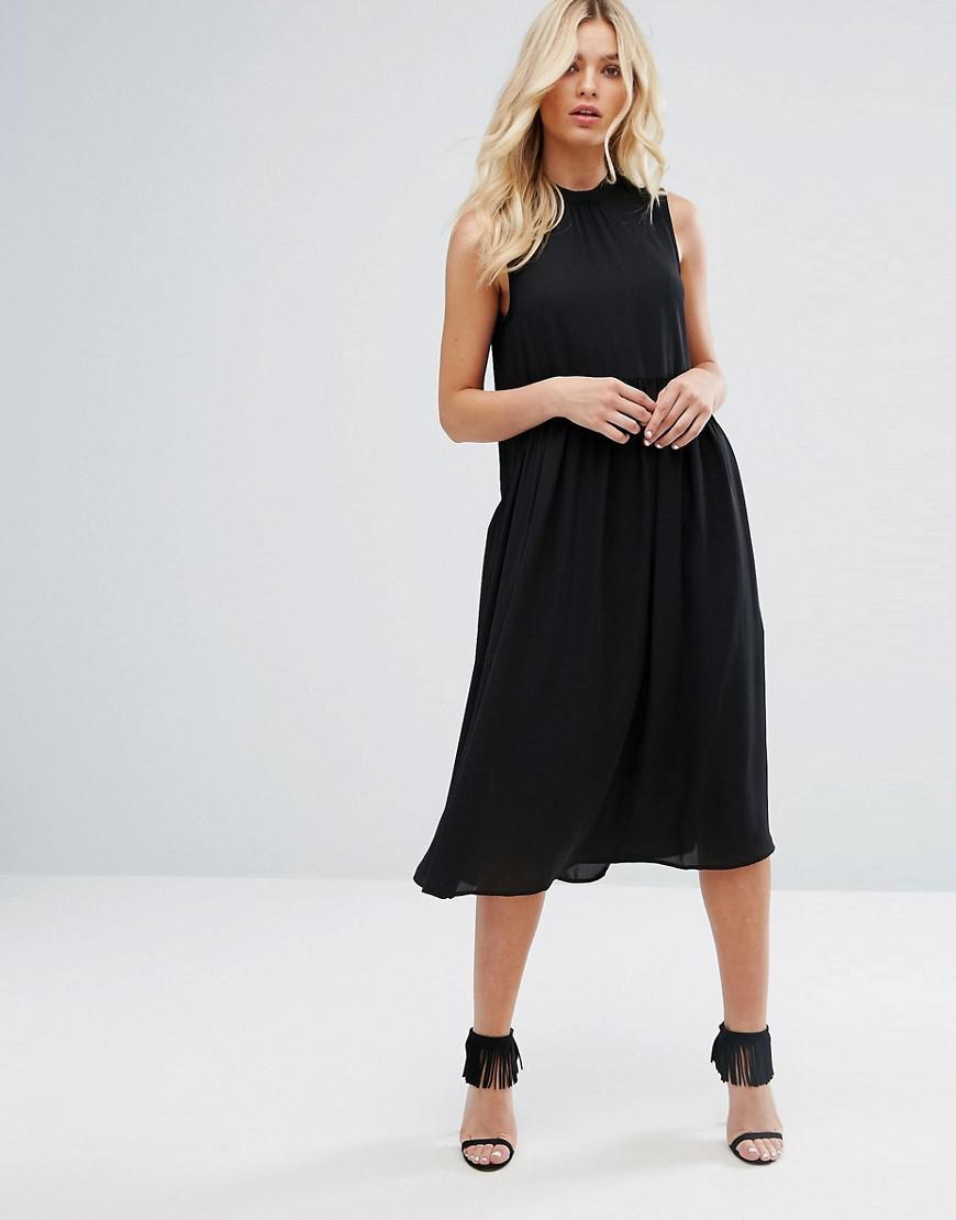 4373df138d0 Lyst - Y.A.S High Neck Midi Dress in Black