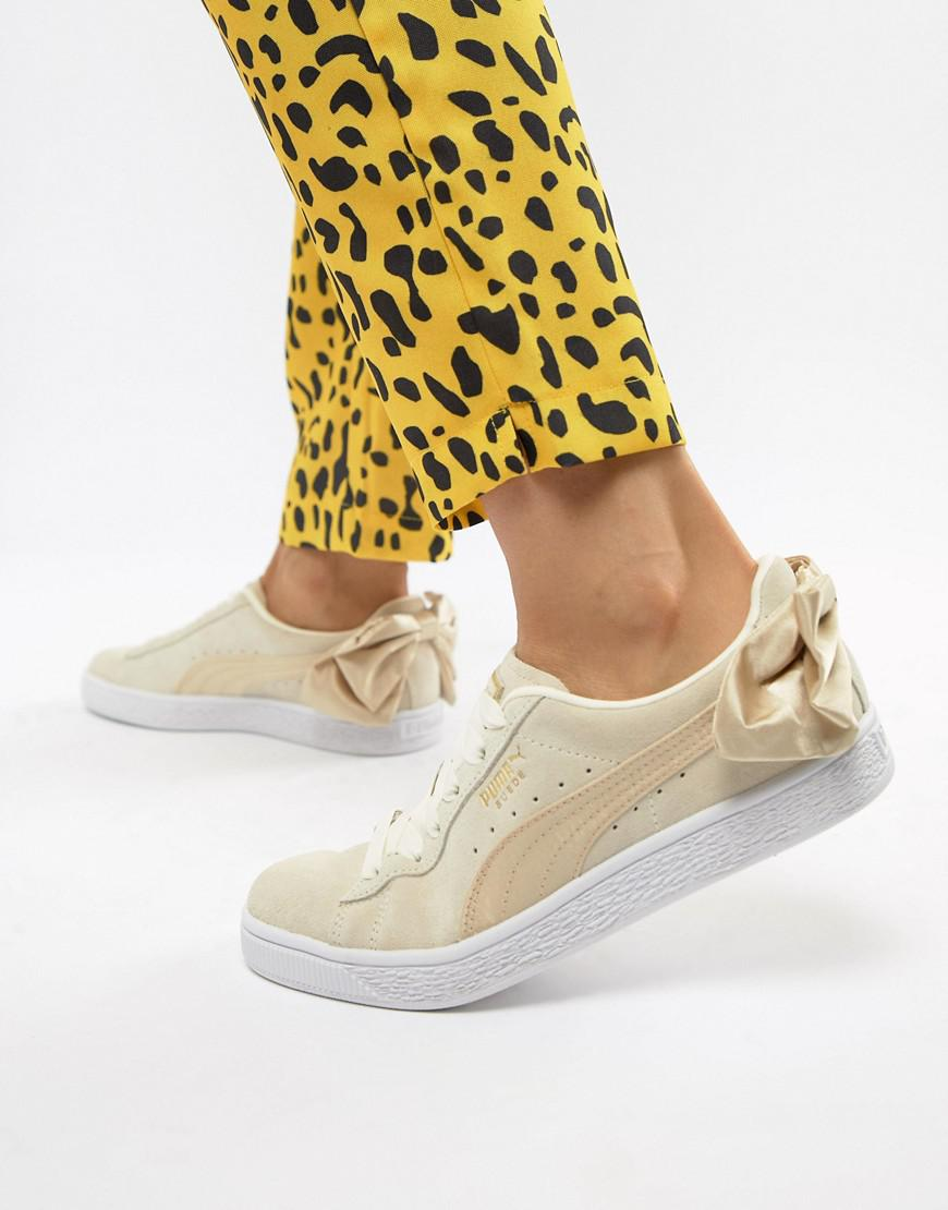 Lyst - PUMA Suede Bow Varsity Gold Sneakers in Metallic f0e0112df