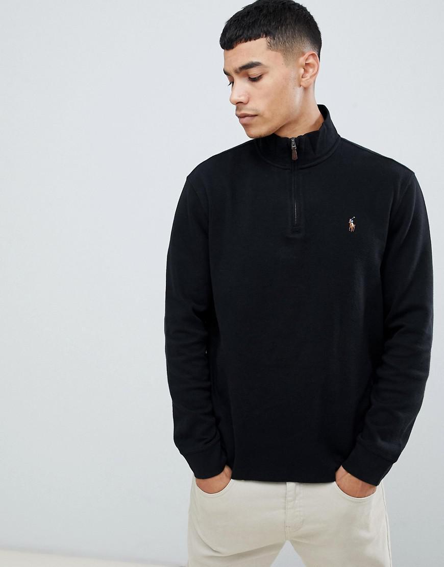 pas cher à vendre styles classiques style populaire Pull en tricot de coton demi-fermeture clair avec logo ...