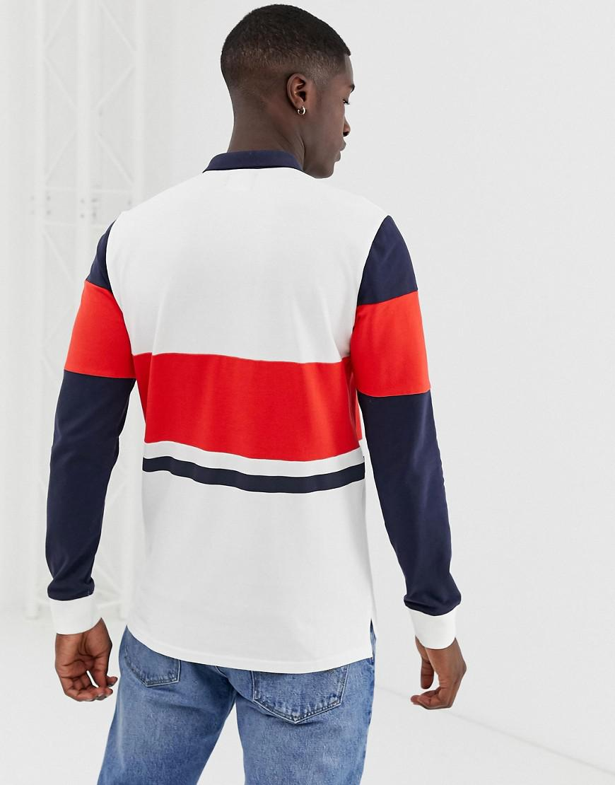 Lyst Only Sons Long Sleeve Polo Shirt With Colour Block Details