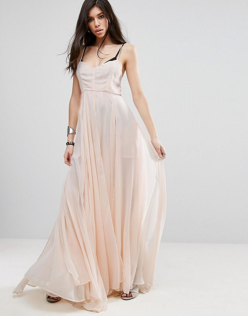 1465653ccdd Religion Olsen Maxi Dress in Pink - Lyst