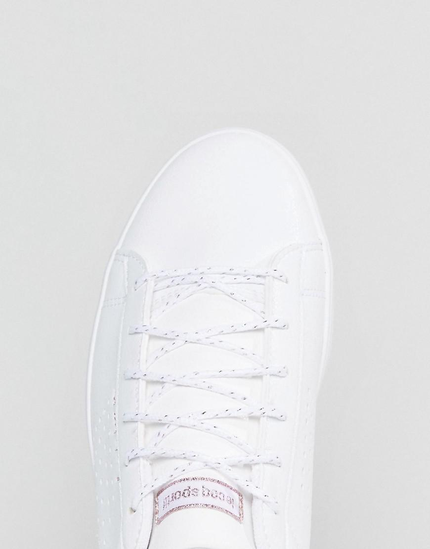 f3b32921c91f Le Coq Sportif White And Rose Gold Agate Lo Sneakers in White - Lyst