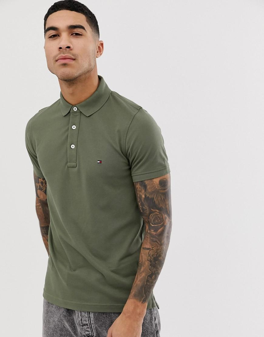 d6e9c41e Tommy Hilfiger Slim Fit Polo Shirt in Green for Men - Lyst