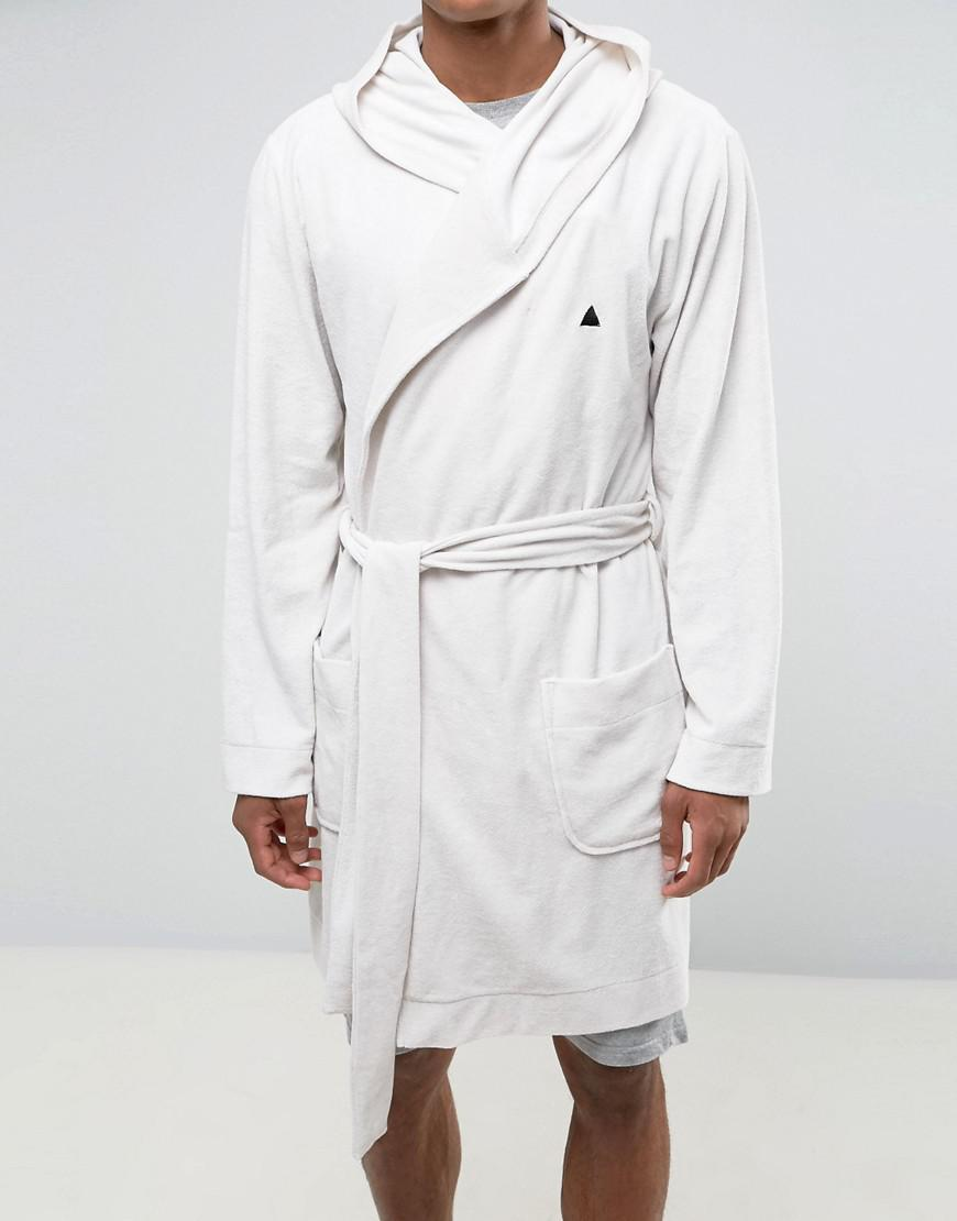Lyst - Asos Towelling Robe With Logo in White for Men