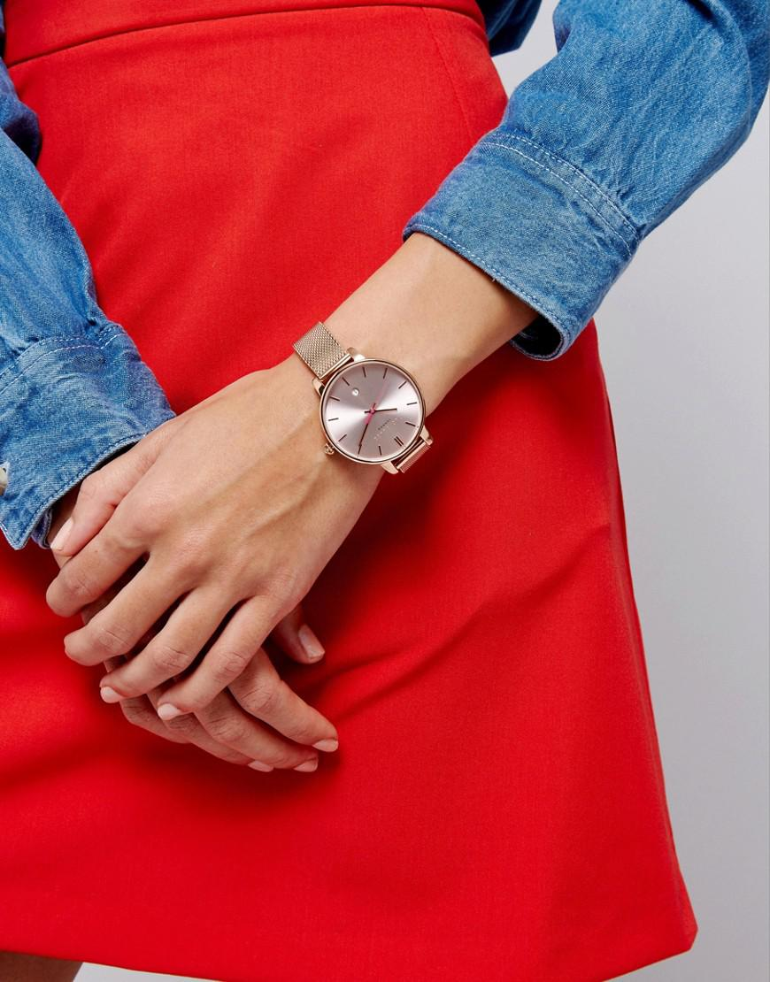 Lyst - Ted Baker Kate Mesh Watch In Rose Gold in Metallic b5c4e7a24