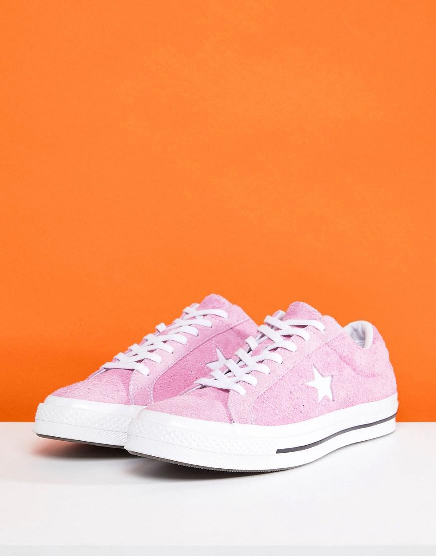 One Star Ox Plimsolls In Pink 159492C - Pink Converse 9KTg71x