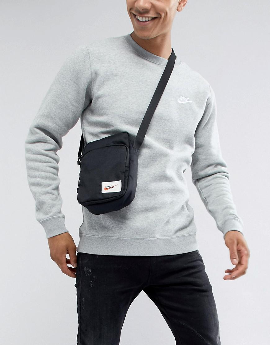 Nike Heritage Cross Body Bag In Black Ba5809-010 in Black for Men - Lyst d291287dc6254