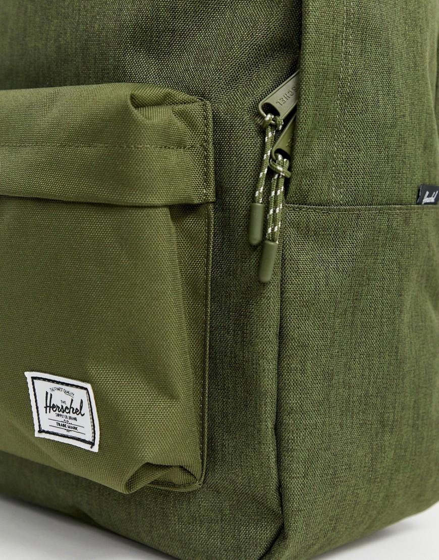87acedfb273 Lyst - Herschel Supply Co. Classic 24l Backpack In Crosshatch Khaki in  Green for Men