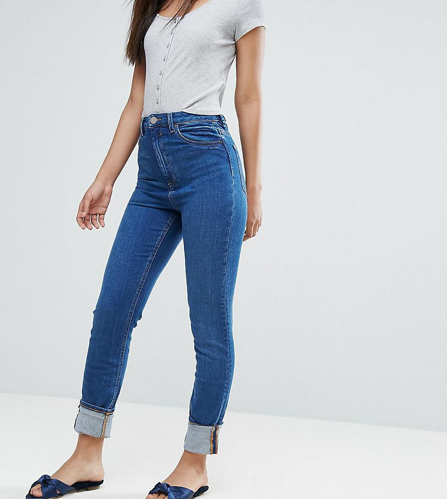 ASOS DESIGN Tall Farleigh high waist slim mom jeans in neo wash - Deep blue Asos Tall Free Shipping Supply Cheap Sale Low Cost Official Site jdJhyjpe