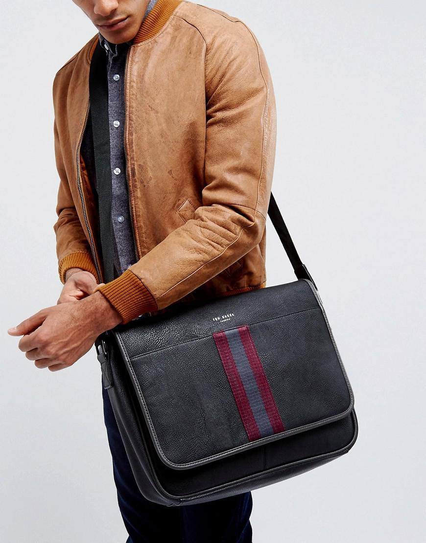 Ted Baker Messenger Bag Buzard In Black in Black for Men - Lyst 3df7f5d4b2c70