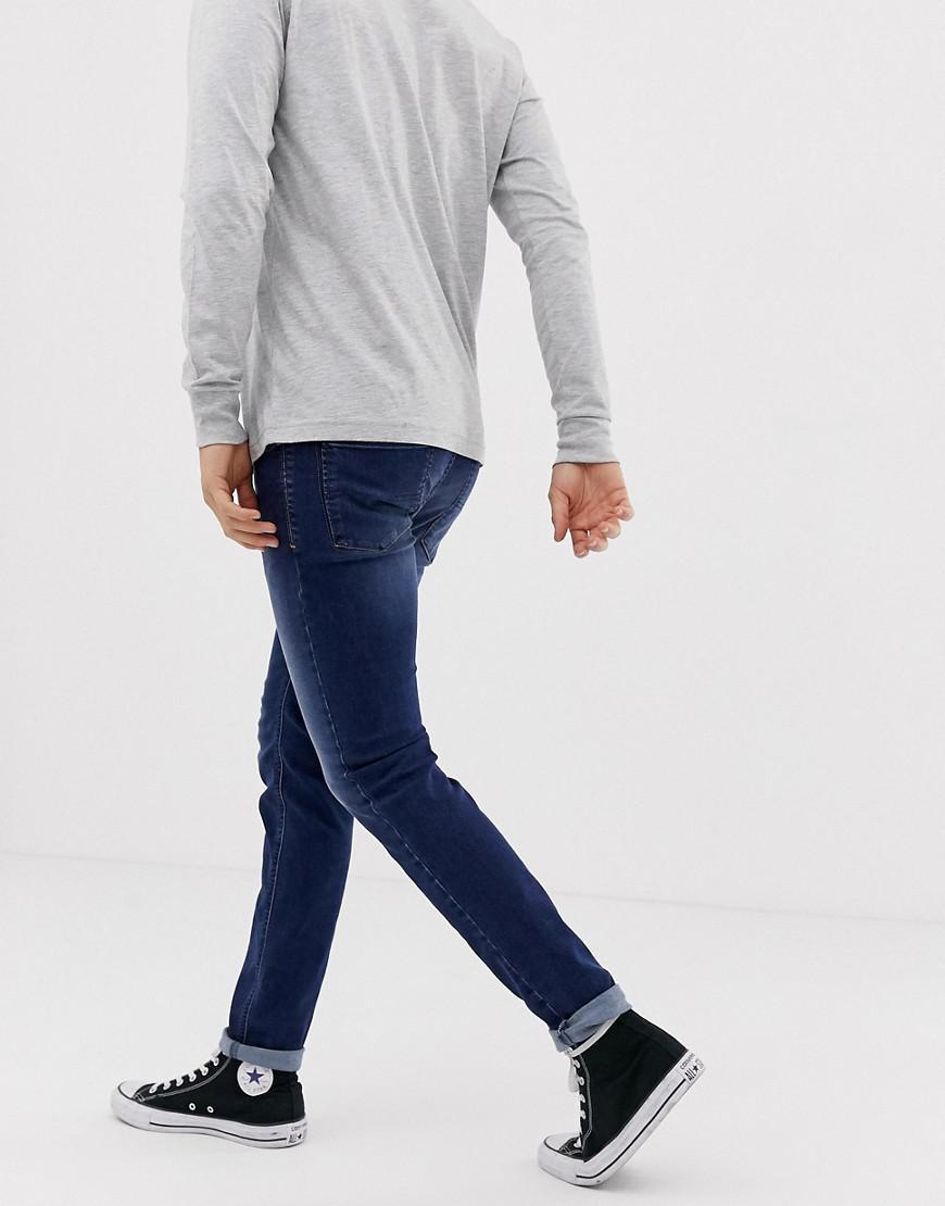 148c982f Lyst - Diesel Sleenker 086aj Skinny Fit Jeans in Blue for Men