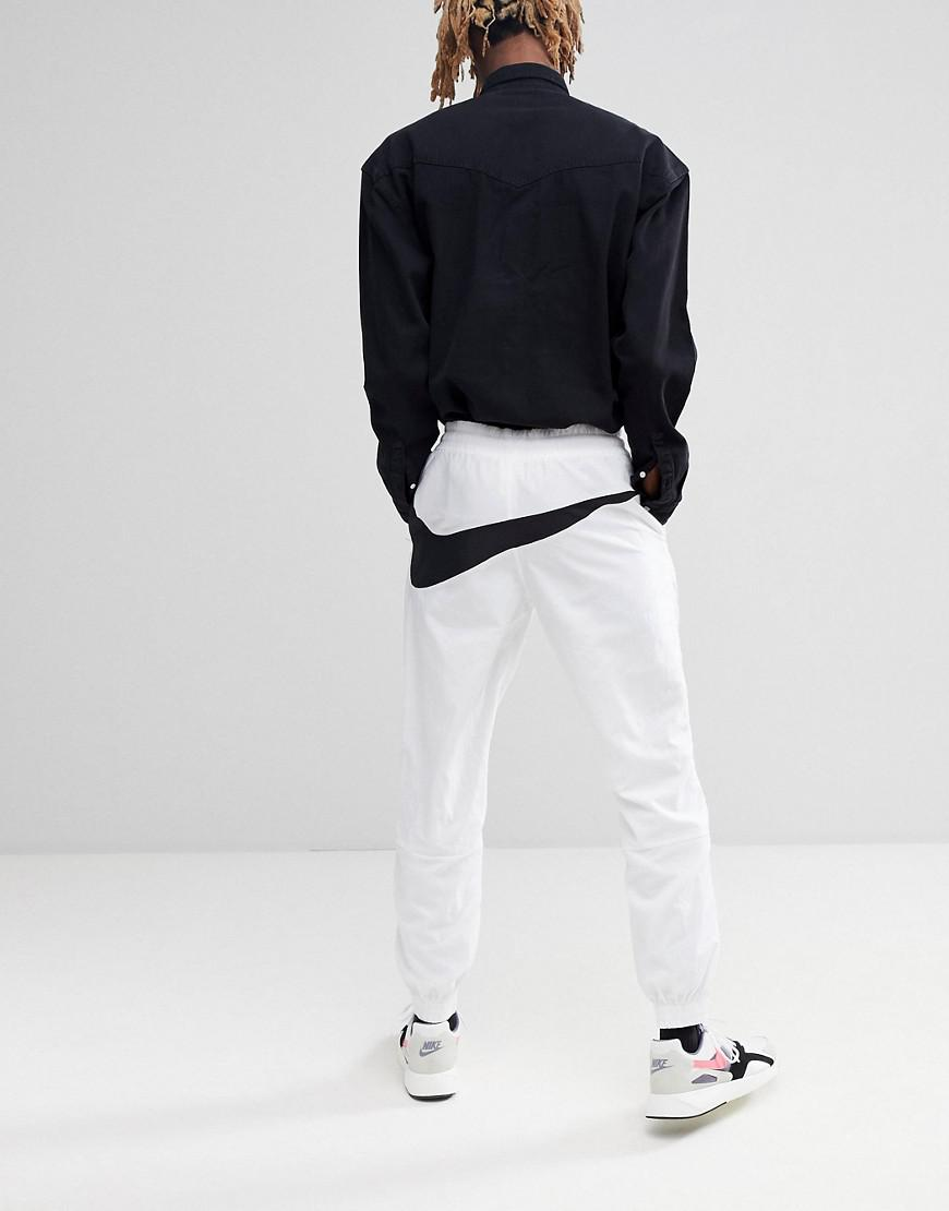 9260b489fcce Nike Vaporwave Joggers With Large Swoosh In White Aj2300-100 in ...