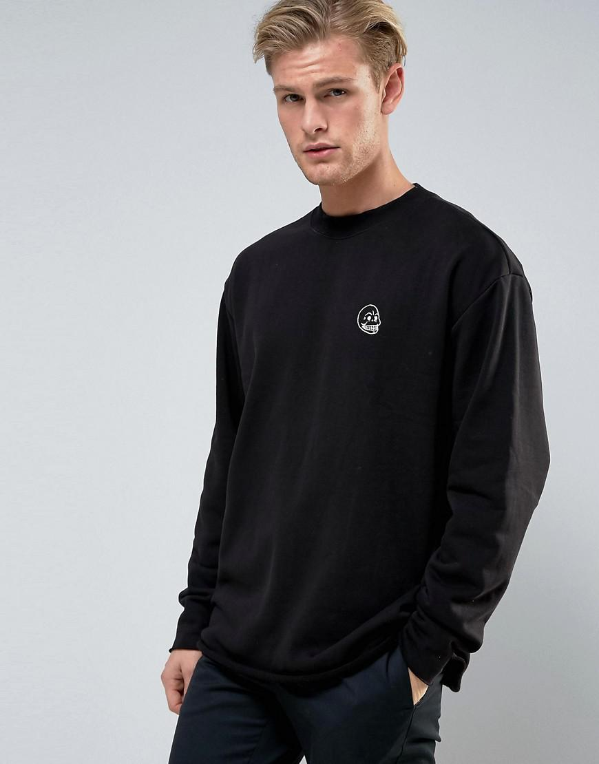 Cheap monday Victory Now Sweater Tiny Skull in Black for Men | Lyst
