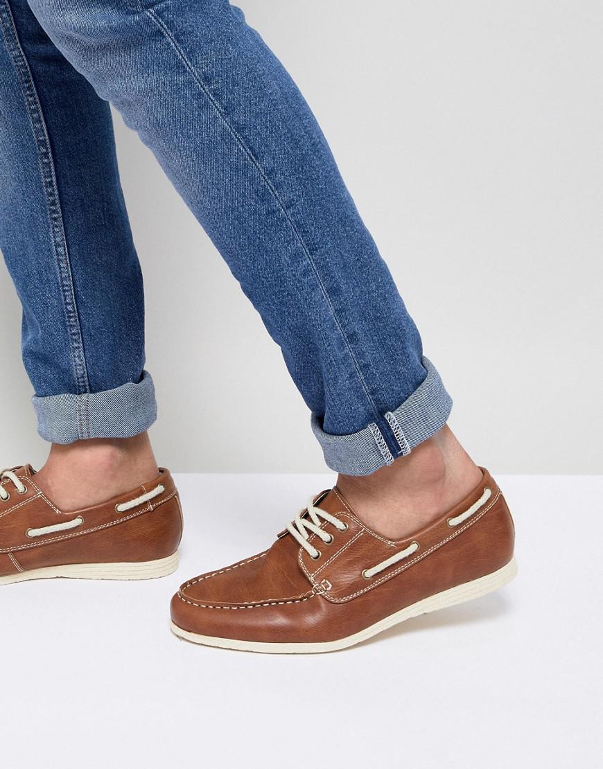 Nouvelles Chaussures Bateau Look En Tan Tan - mNE3f