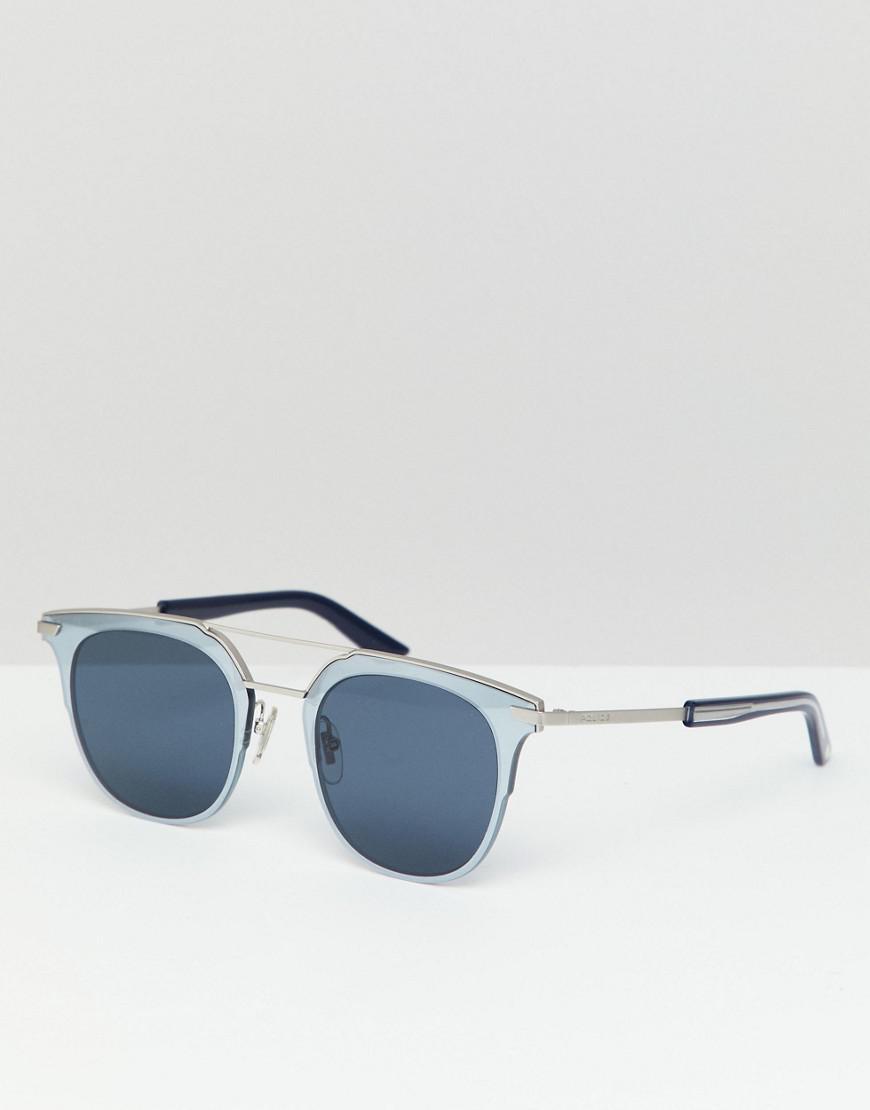 Police Retro Sunglasses In Silver in Metallic for Men - Lyst 864a96d8e3