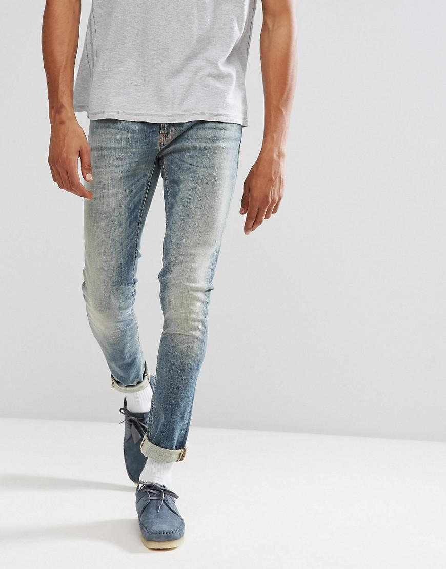 aaaf201fcb50 Lyst - Nudie Jeans Co Skinny Lin Jean Shimmering Fall Wash in Blue ...