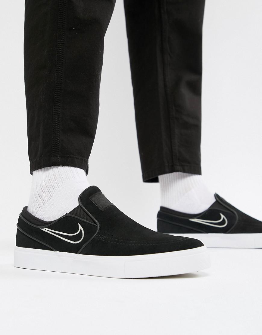 Nike Zoom Stefan Janoski Slip On Sneakers In Black 833564-004 in ... 454761d1a2090