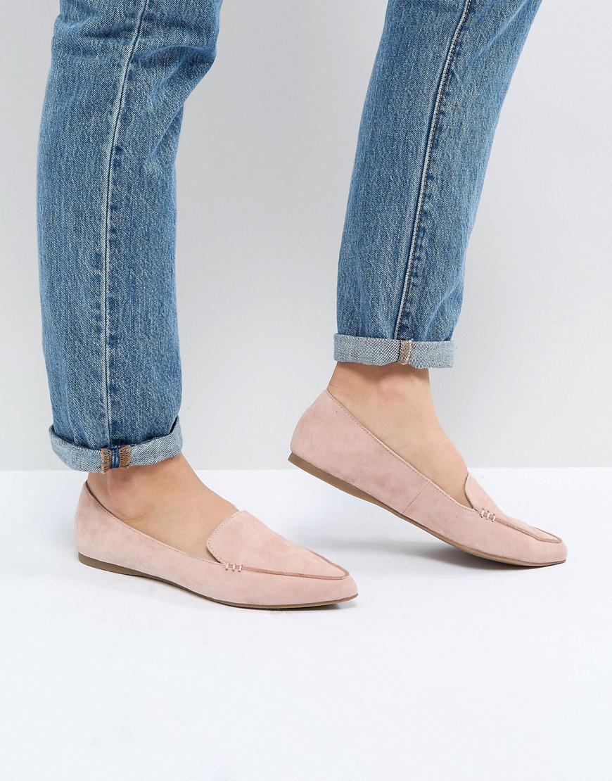 9b785208f54d Steve Madden - Pink Feather Rose Suede Flat Shoes - Lyst. View fullscreen