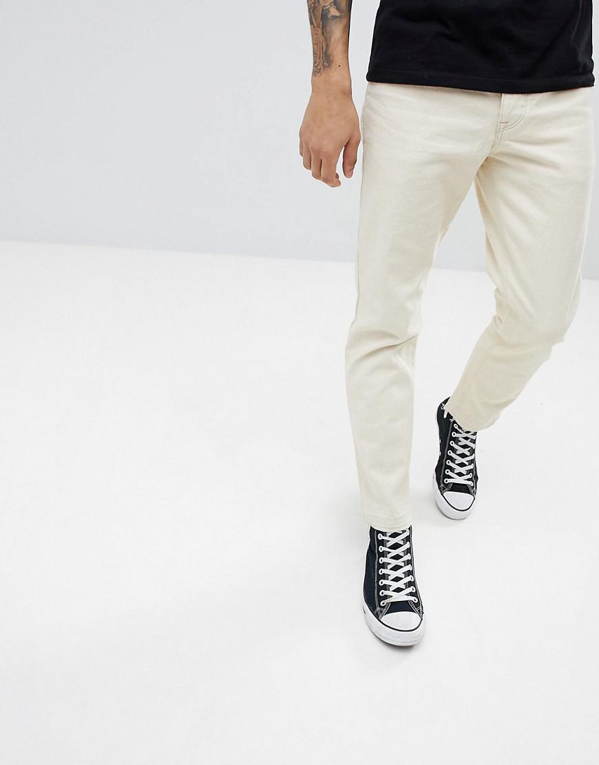 DESIGN Super Skinny Jeans In Ecru - Off white Asos fN5xB
