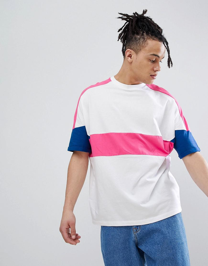 79e59d41 Lyst - ASOS Oversized T-shirt With Roll Sleeve And Bright Colour ...