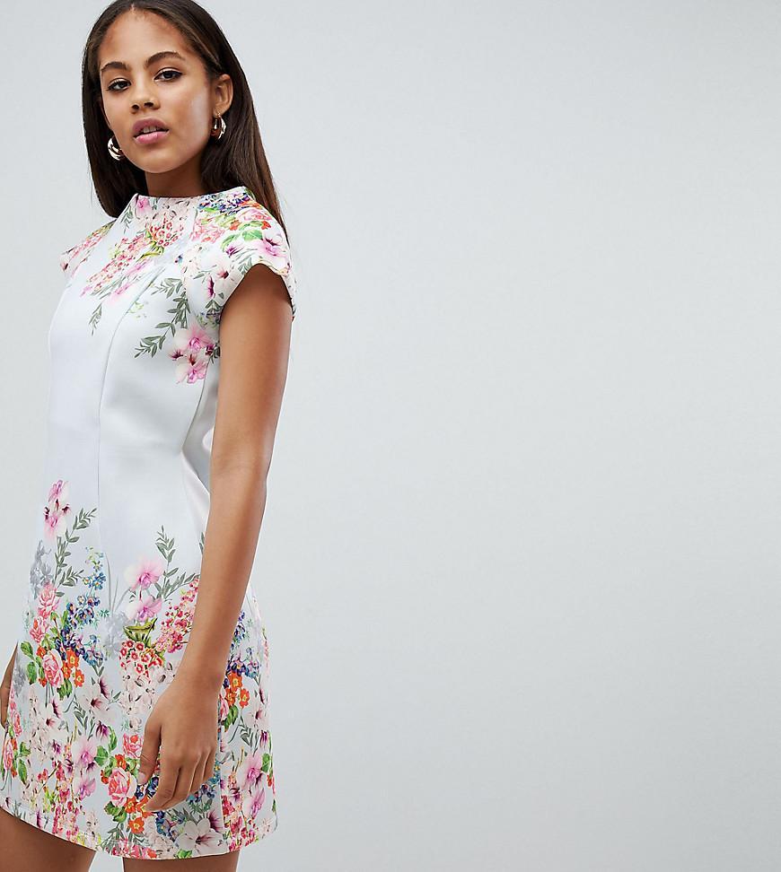 7f42d3c465d ASOS. Women s Asos Design Tall Placement Floral Shift Mini Dress