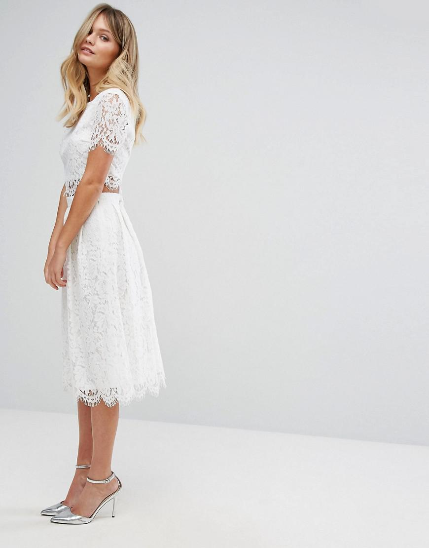 efe15cf182361f New Look Lace Scallop Top And Midi Skirt Co Ord – DACC