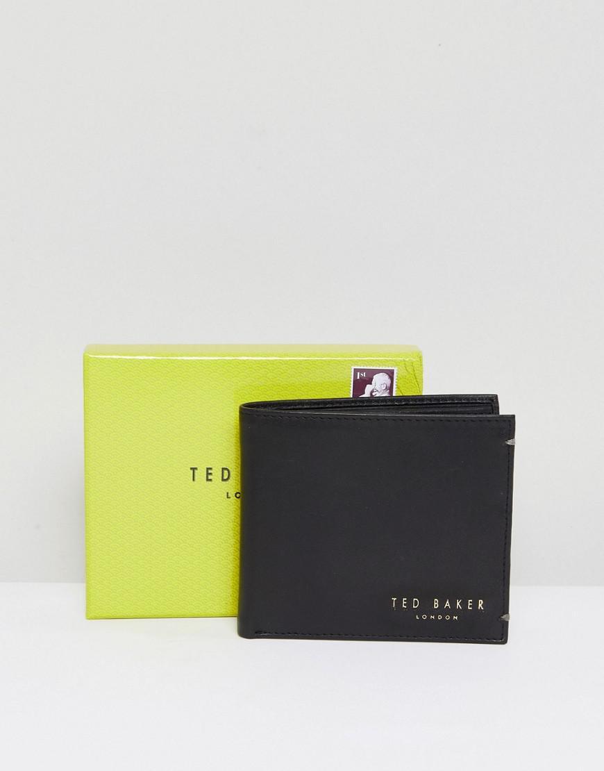 1e88b2e1770 Ted Baker - Black Harvys Leather Billfold Coin Wallet for Men - Lyst. View  fullscreen