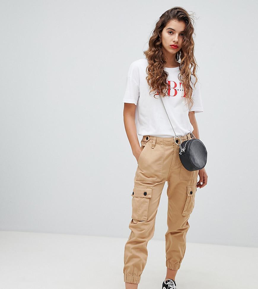 codes promo thésaurisation comme une denrée rare nouvelles images de Pantalon cargo utilitaire - Beige femme