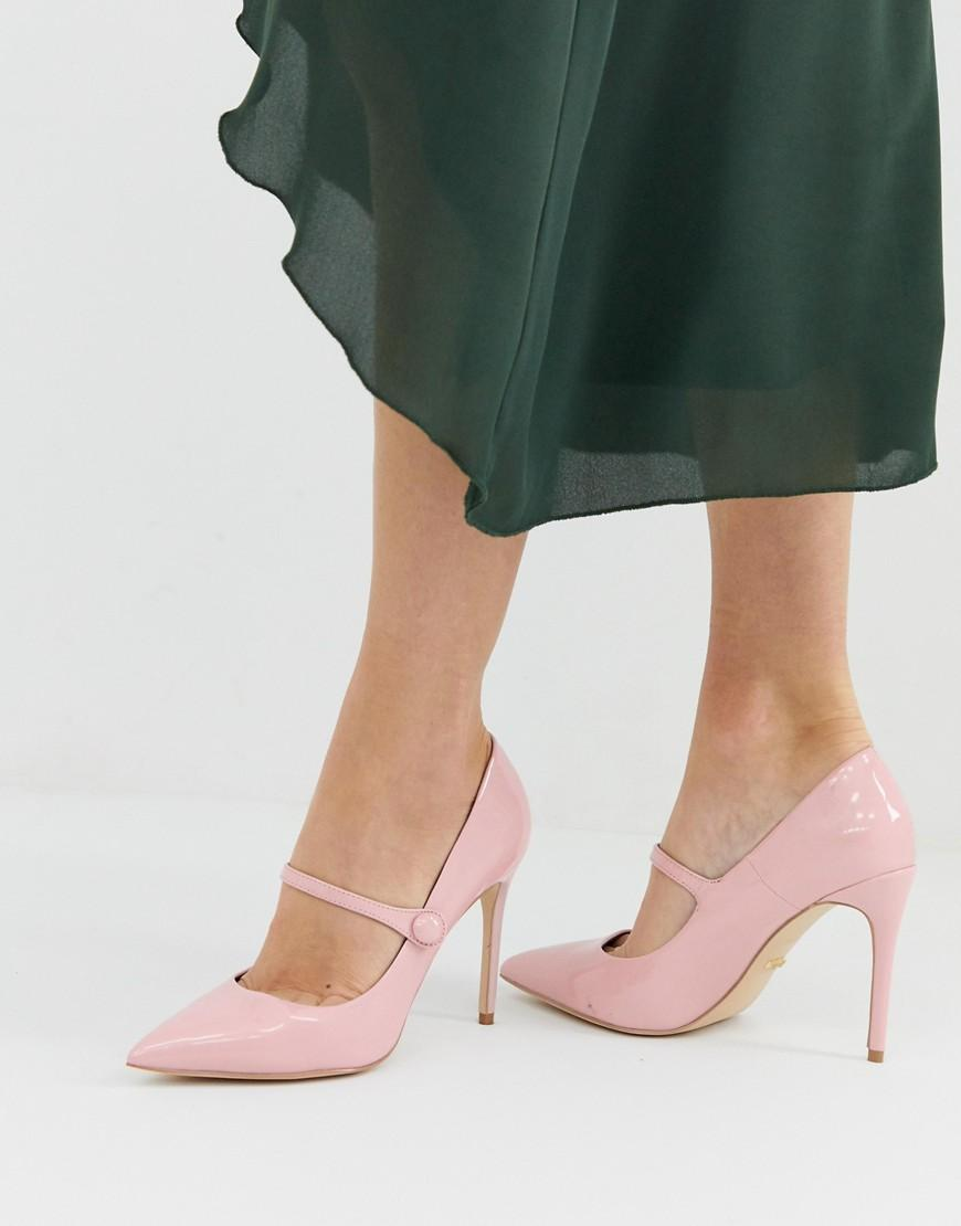 28e1b744a79 Faith Charlie Pink Patent Mary Jane Court Shoes in Pink - Lyst