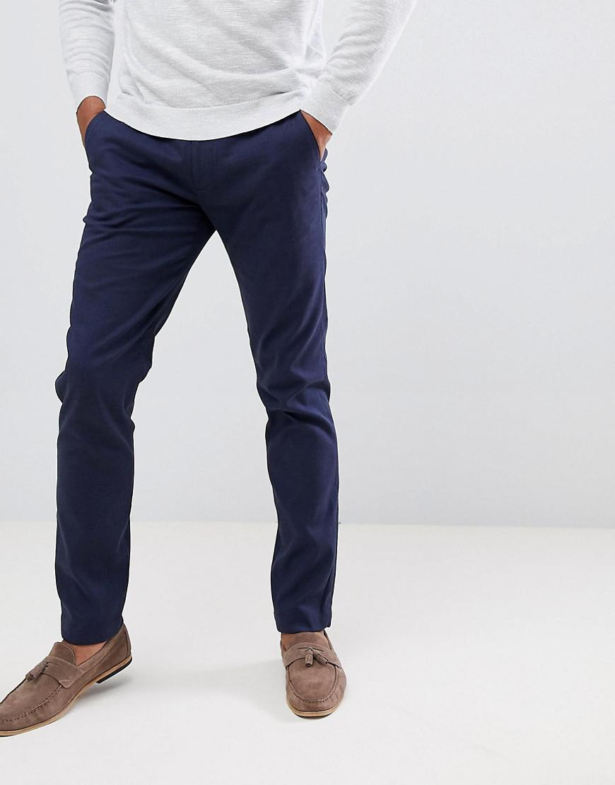 191747fd51ba Lyst - Ted Baker Smart Slim Chinos In Textured Pindot in Blue for Men