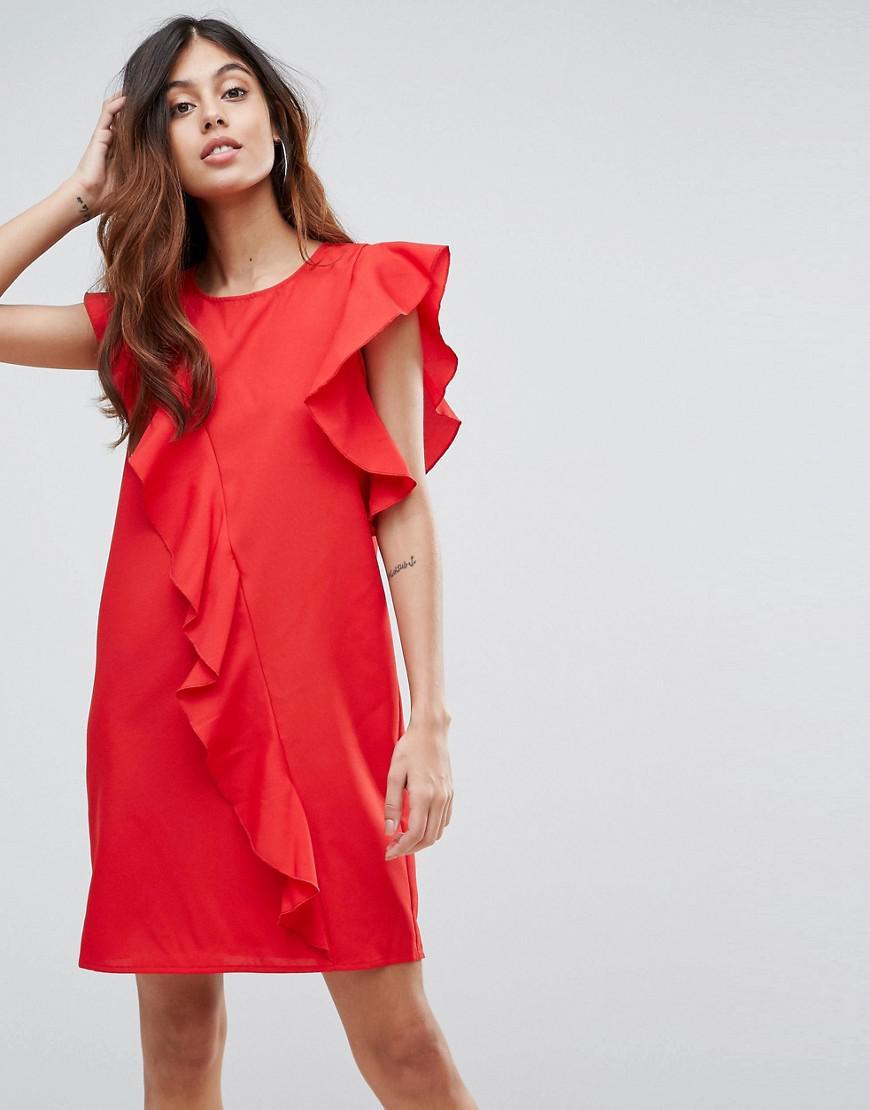 ebd54c3159de Vero Moda. Women s Red Frill Asymetric Dress.  49  18 From ASOS