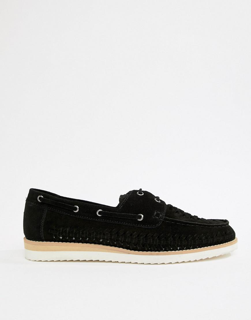 finest selection 241c5 e231e frank-wright-navy-Wovenshoes-In-Black.jpeg