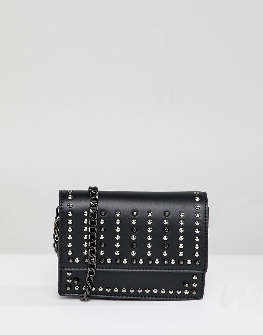 Park Lane Extra Mini Studded Phone Holder Across Body Bag in Black ... 3db4539bdb8f0