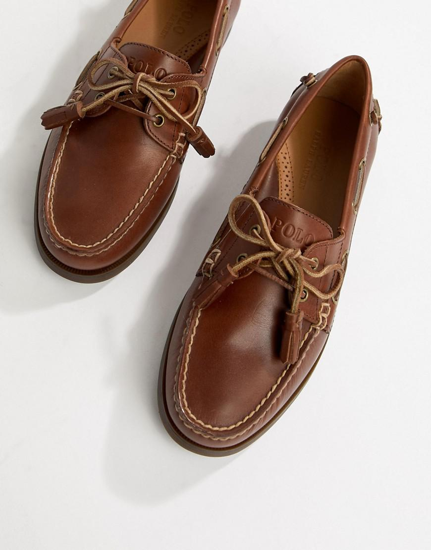 4f8491749179 Polo Ralph Lauren Merton Leather Boat Shoes In Tan in Brown for Men ...