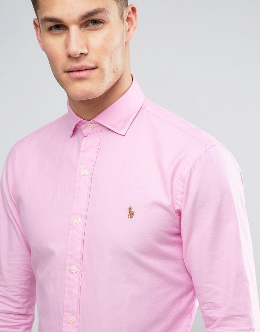 094fe8152ac5 Polo Ralph Lauren Twill Shirt Slim Fit Cutaway Collar In Pink in ...