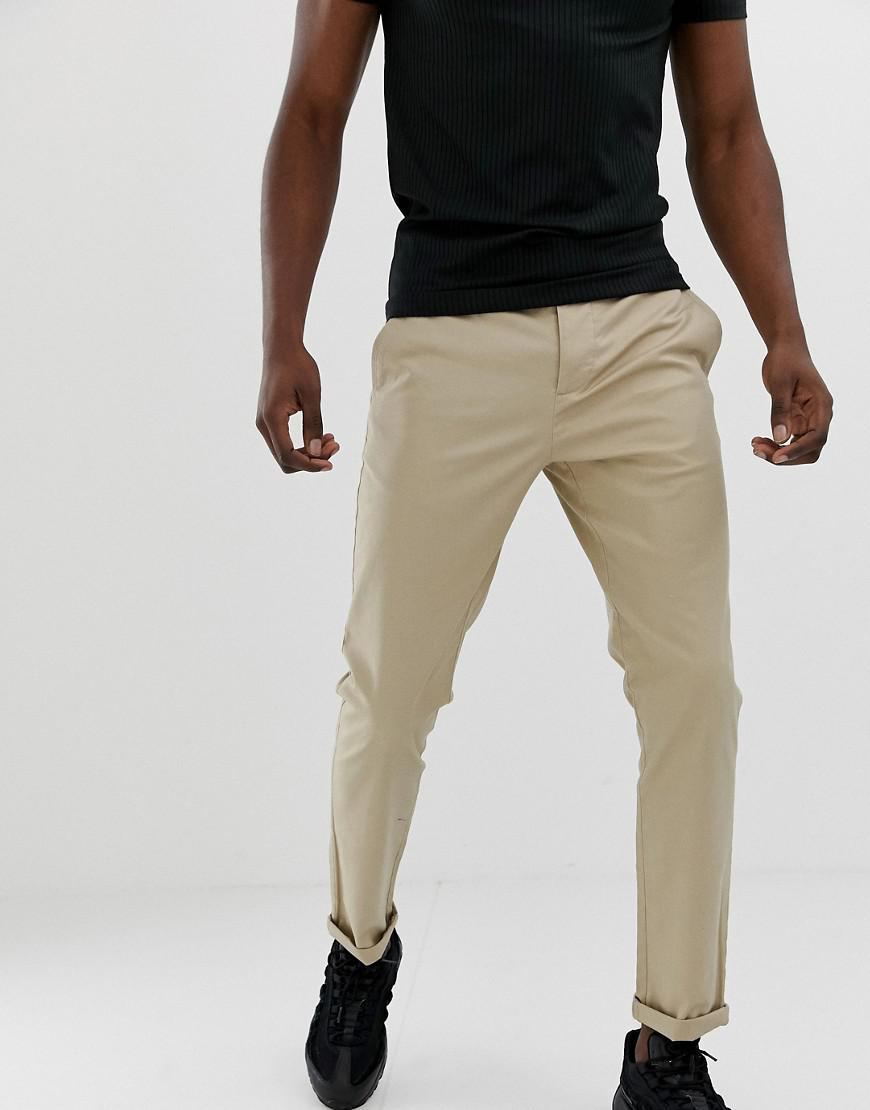 815de43be3fbb2 Lyst - Asos Slim Chinos In Putty in Natural for Men