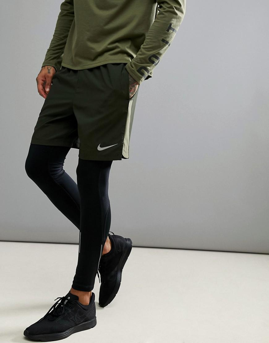 91877cd54118e Nike Flex Challenger 7 Inch Shorts In Khaki 856838-355 in Green for ...
