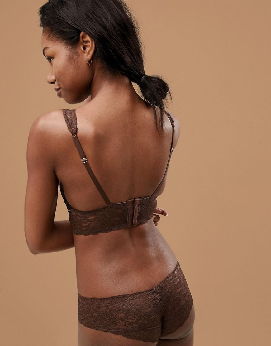 13053f98c3d DORINA Tone On Tone Lana Nude Non Padded Bralette In Dark in Natural - Lyst