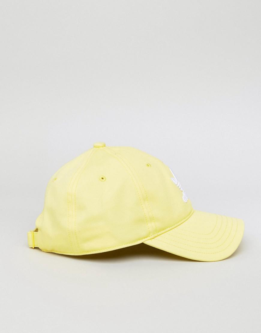 0cb268bbfb3 Lyst - adidas Originals Adicolor Trefoil Cap In Yellow Cd6974 in ...