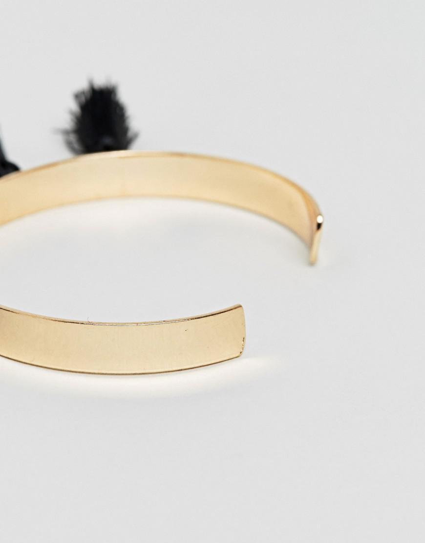 DESIGN Tassel Cuff Bracelet - Gold Asos 5Vo6Y